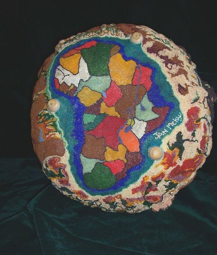 my pictures are of my beaded gourds, crafts