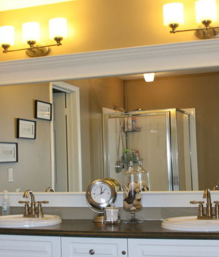 Our easy framed mirror!