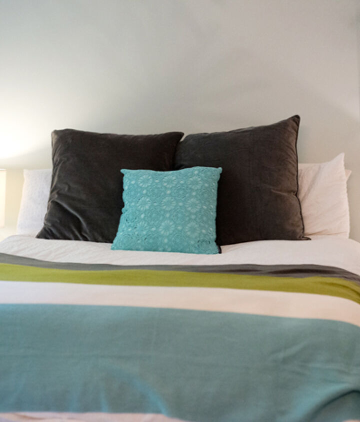 diy headboard for under 30, bedroom ideas, diy, how to, painted furniture, repurposing upcycling, Before without headboard