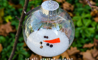melted snowman ornament, crafts, seasonal holiday decor
