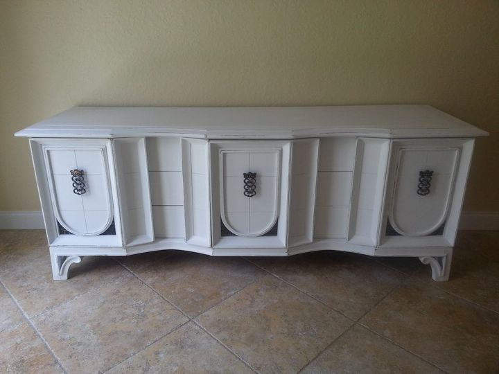refurbished sideboard before after, painted furniture, Client loves the after slightly distressed