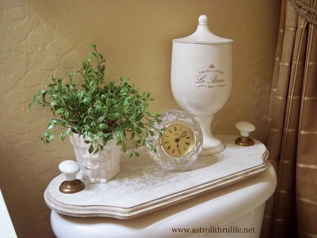 easy diy bathroom tank tray, bathroom ideas, home decor