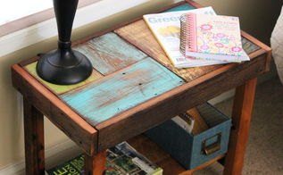 reclaimed scrap wood sofa table, diy, how to, painted furniture, woodworking projects
