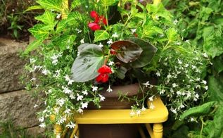 great garden chair planter ideas, gardening, outdoor furniture, outdoor living, painted furniture, repurposing upcycling, rustic furniture, seasonal holiday decor, Visit Stephanie at Garden Therapy to see this tutorial