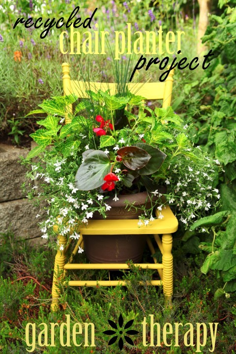Great Garden Chair Planter Ideas Gardening Outdoor Furniture Living Painted
