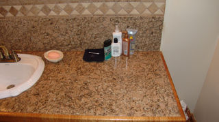 annapolis md i have friends who made beautiful countertops out of 12 x 12 blue, countertops, kitchen design, outdoor living, tiling, groutless granite with wood edges