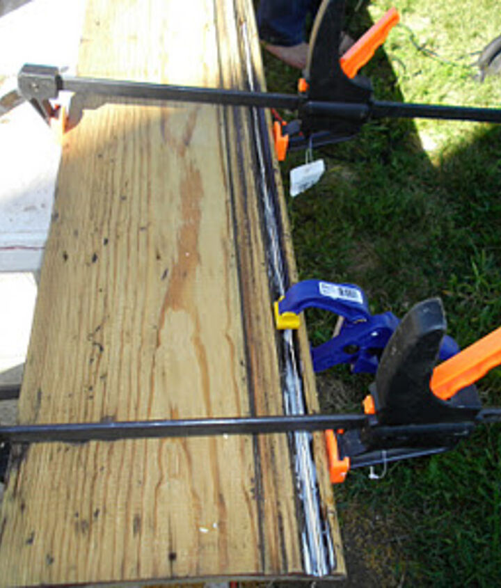 A little wood glue and clamps can salvage just about any old piece of wood.