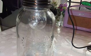 diy tutorial jar pendant swag light, diy, how to, lighting, that s it now its ready to be suspended from ceiling in your chosen spot visit my blog for a useful link on how to do this thanks for looking