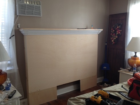 Diy Fireplace Mantle Headboard Bedroom Ideas Fireplaces Mantels Painted Furniture Repurposing Upcycling