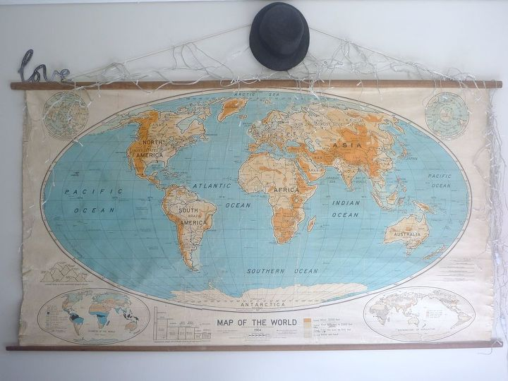 our world map, home decor
