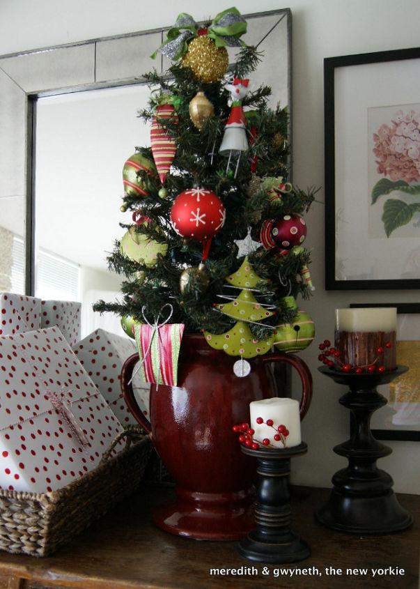 small space christmas tree amp mantle christmas decorations seasonal holiday decor we gave - Small Decorative Christmas Trees For Mantle