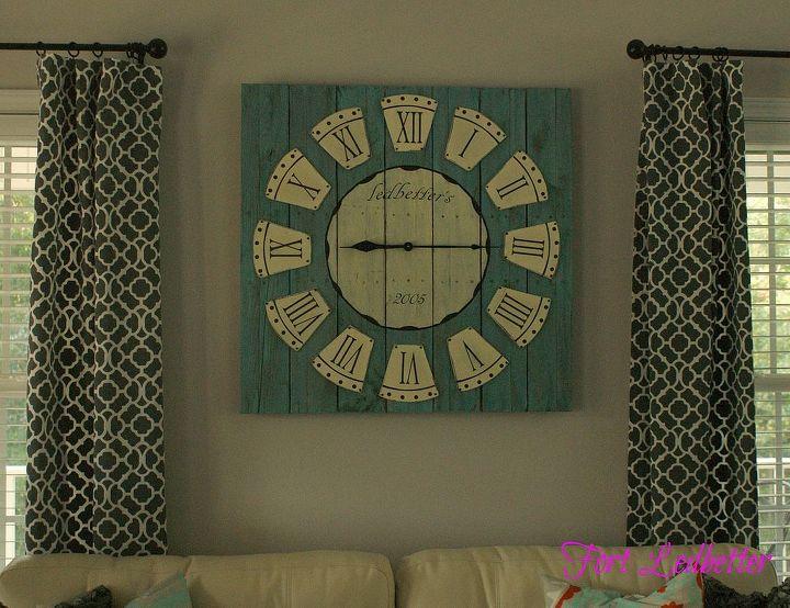 diy pallet clock, diy, home decor, how to, pallet