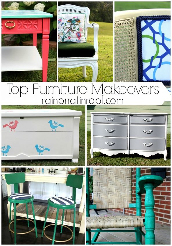 top furniture makeovers, painted furniture