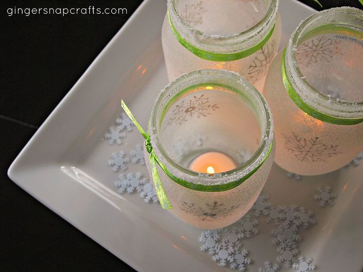 white christmas mason jar luminaries, christmas decorations, crafts, decoupage, electrical, lighting, mason jars, seasonal holiday decor, They would make a great centerpiece on a holiday table or even decoration for a winter wedding