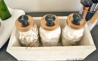 diy mason jar storage, crafts, mason jars, woodworking projects