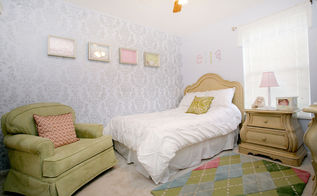 damask stenciled bedroom, bedroom ideas, painting, wall decor