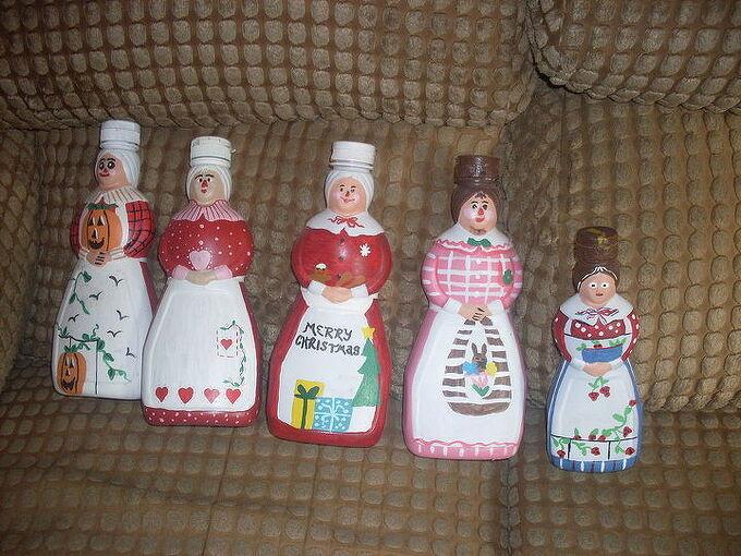 mrs butterworth bottles i painted, crafts