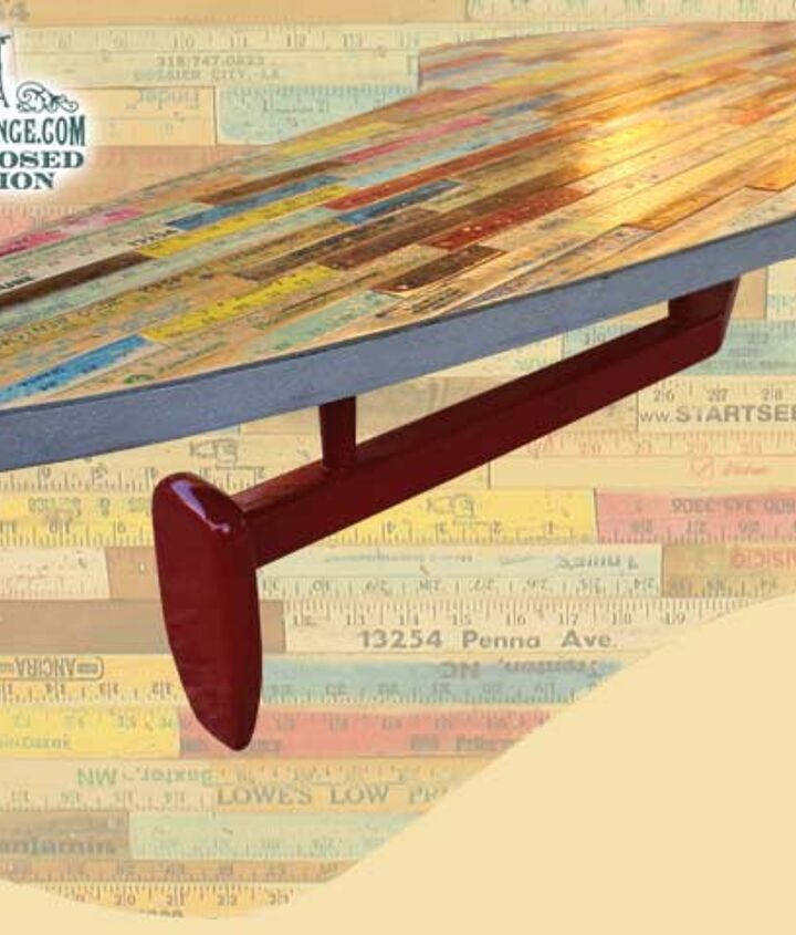 Atomic Customized Yardstick Covered Coffee Table by GadgetSponge.com