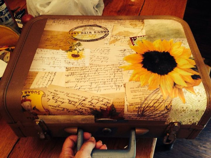 upcycled vintage suitcase, crafts, repurposing upcycling