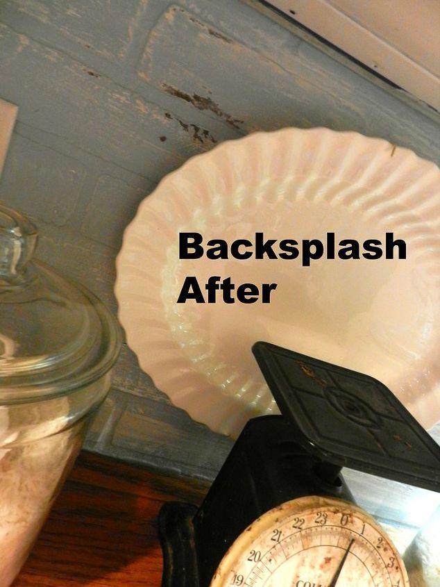 Painted Faux Brick Backsplash Before Amp After Hometalk