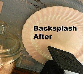 Painted Faux Brick Backsplash Before After, Chalk Paint, Home Decor,  Painting, Backsplash