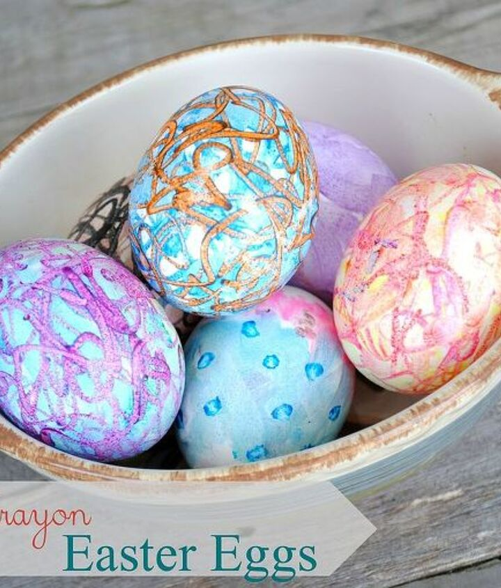 creating colorful easter eggs with melted crayons, crafts, easter decorations, seasonal holiday decor