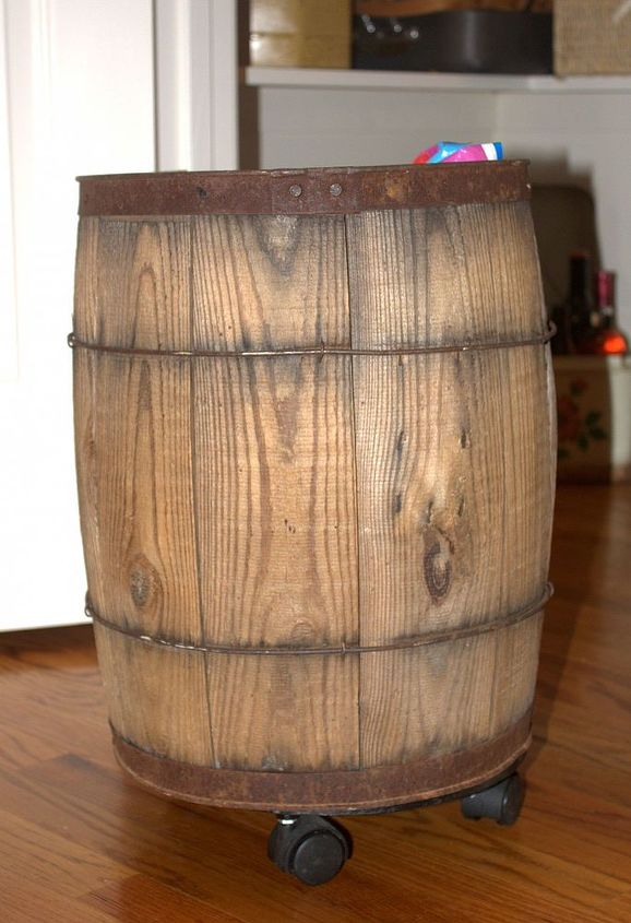This barrel was in my mom's barn and was full of balls when I got it.  After a thorough scrubbing, it makes a great dog food storage container.