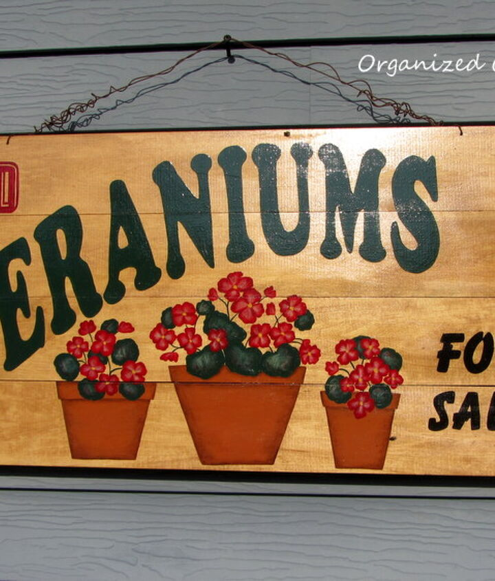 This one I actually commissioned for a spot above my potting bench.  My mom and my husband were sure people would stop by to purchase geraniums.