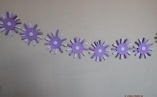 paper strip flower garland, crafts