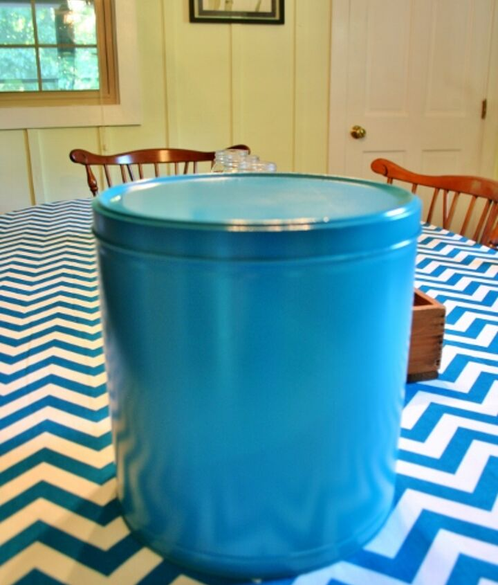 Save the tin and spray paint it teal!