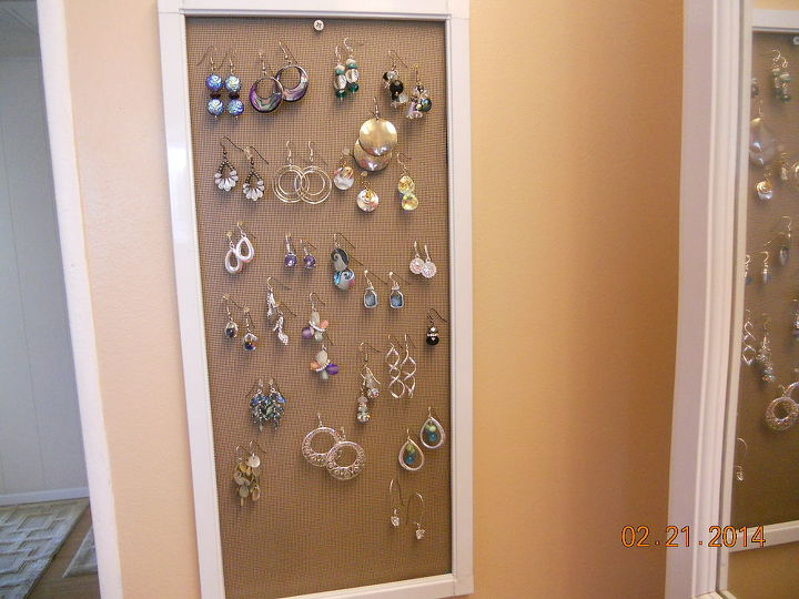 earring holder, cleaning tips, Just a plain old new window screen