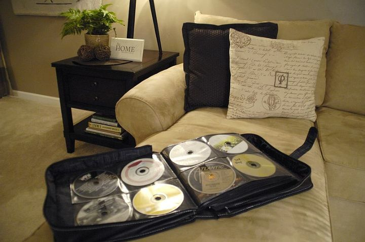 I use a similar consolidation technique with my CD/DVD storage. Read about that here: http://livingrichonless.com/organizing-dvds-and-cds/