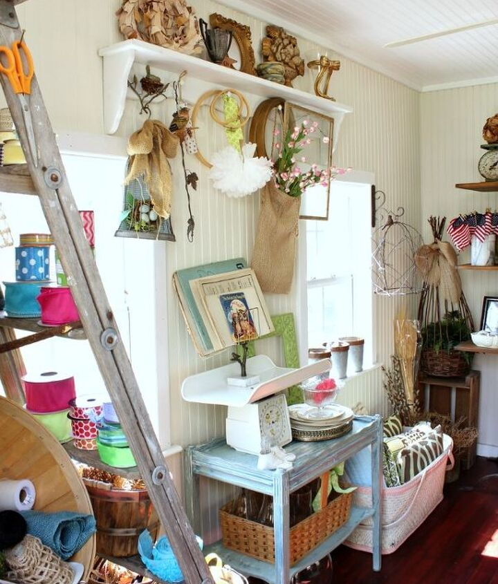 a tour of my craft shed while it s organized, craft rooms, home decor, organizing