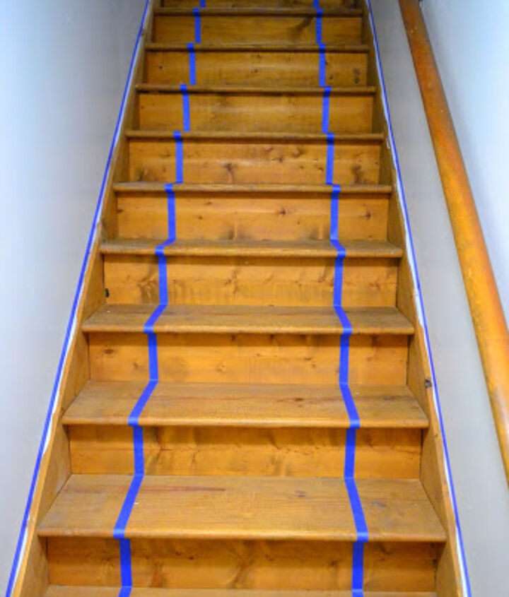 taping off stairs