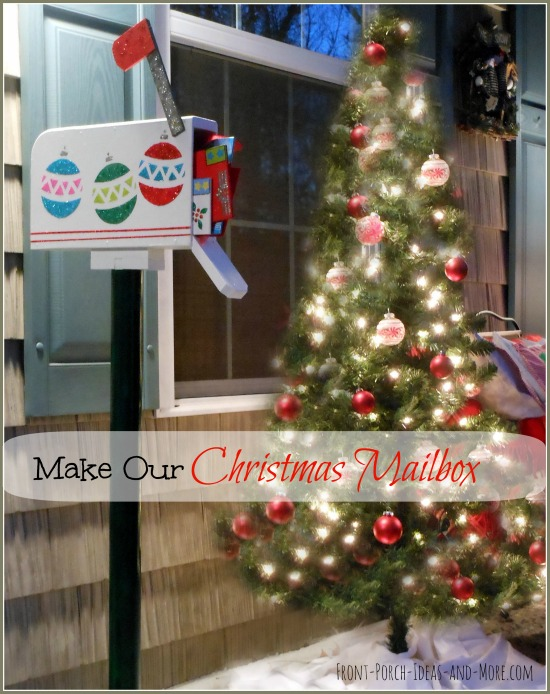 make an outdoor christmas mailbox decoration outdoor living porches seasonal holiday decor