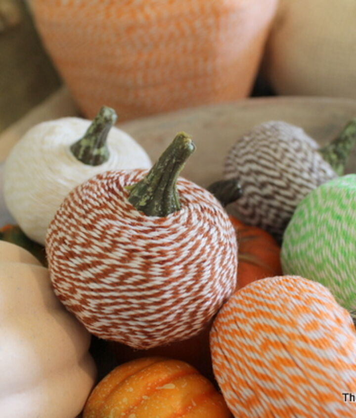 These are perfect for any home's decor and a real classic.   Learn how to make them here:  http://www.thecountrychiccottage.net/2012/10/bakers-twine-pumpkins.html
