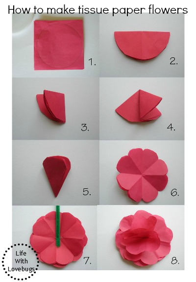 How To Make Tissue Paper Flowers Crafts
