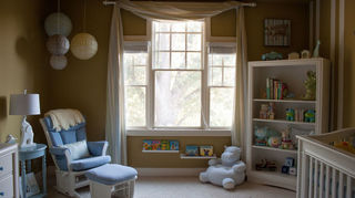 q we have 3 windows amp are unsure how to decorate them for our nursery one valance, home decor, windows