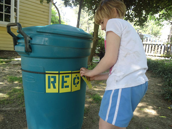 Spell Out Stenciling for what you need. Hold it in place with a bungee cord.