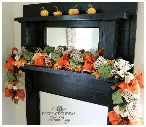 fall mantel decorating idea, christmas decorations, seasonal holiday d cor