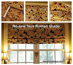 Faux Roman Shades Part - 43: Make Your Own No Sew Faux Roman Shade, Diy, Home Decor, Window Treatments