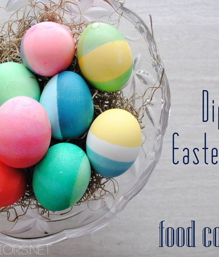 dip dyed easter eggs using food coloring, crafts, easter decorations, seasonal holiday decor