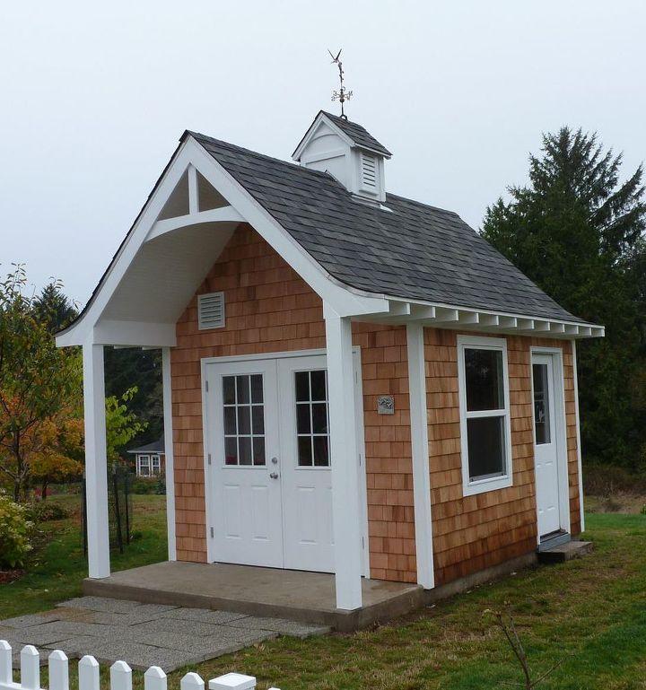 cute garden shed, diy, landscape, outdoor living