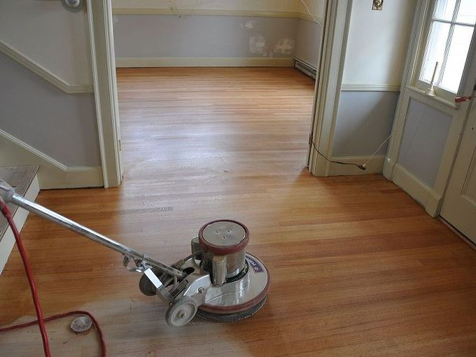 green alternative to poly for your hardwood flooring, flooring, hardwood floors, home decor, Monocoat being applied