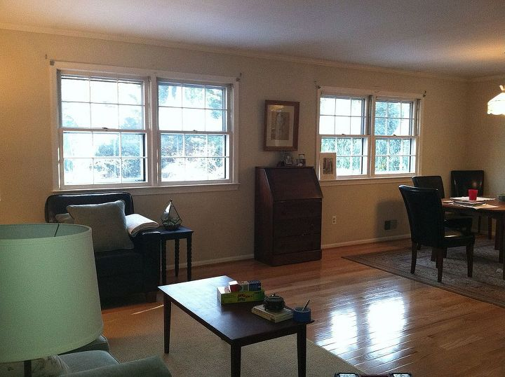 curtain for windows with hvac vents underneath, home decor, living room ideas, reupholster, window treatments, windows