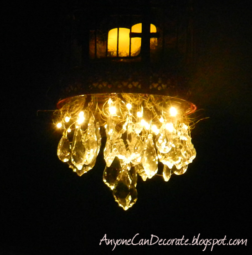 How I Diy D An Outdoor Chandelier Lighting Living Battery Operated