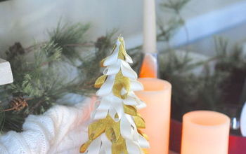 easy ribbon trees, christmas decorations, crafts, seasonal holiday decor, With less time between Thanksgiving and Christmas this year I hope you can use this simple and easy holiday idea