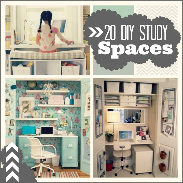 Decorating Ideas For Study Spaces: 20 DIY Study Spaces