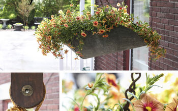 Vintage Hanging Scale becomes a planter