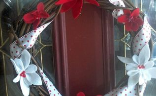 decorating my front door wreath, crafts, doors, flowers, wreaths